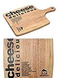Schneidebrett Holz Schneidbrett Käsebrett Serviertablett (Eckiges Küchenbrett, Schinkenbrett, Servierbrett, 26 x 37 cm)