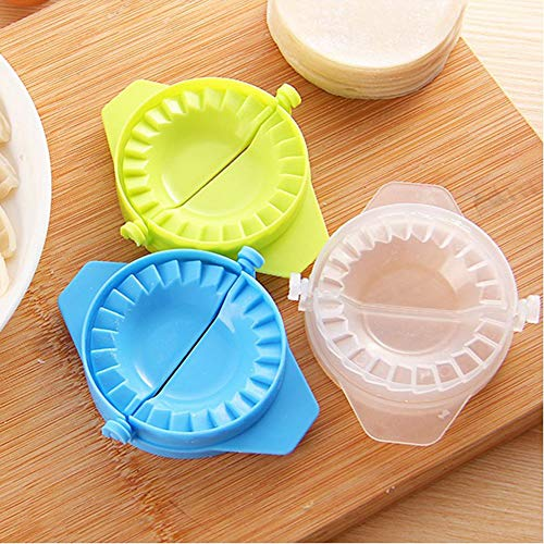 Dumpling Maker,Ravioli Dumpling Press Mould,Pierogi Pie Pastry Maker DIY Kitchen Gadget(7.511cm,Green)