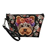 HUGS IDEA Bolsa de aseo para mujer, diseño de Yorkshire Terrier,...