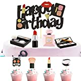 29 Pieces Makeup Themed Cake Toppers 3D Resin Cosmetics Cake Decoration Lipstick Cupcake Topper Perfume Bottle Birthday Cake Toppers for Bridal Shower Makeup Salon Spa Theme Party Supplies