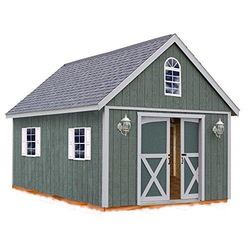 Belmont 12 ft. x 16 ft. Wood Storage Shed Kit