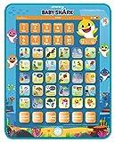 Lexibook- Baby Shark Tablette éducative bilingue, Jouet pour Apprendre Les Lettres Chiffres vocabulaire et Musique, Langues Français/Anglais, Bleu/Orange, JCPAD002BSi1
