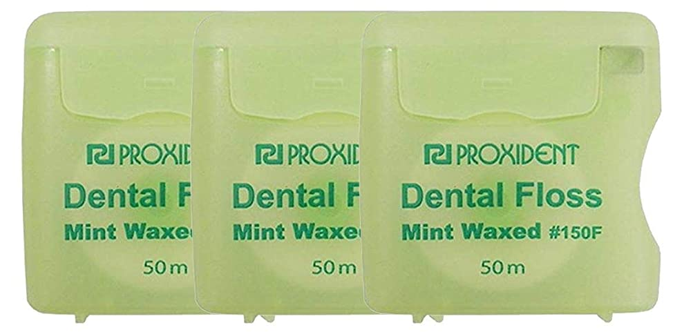 キャンディー廃棄解明するプローデント プロキシデント デンタルフロス ミントワックス #150F(MintWaxed) 50m 3個