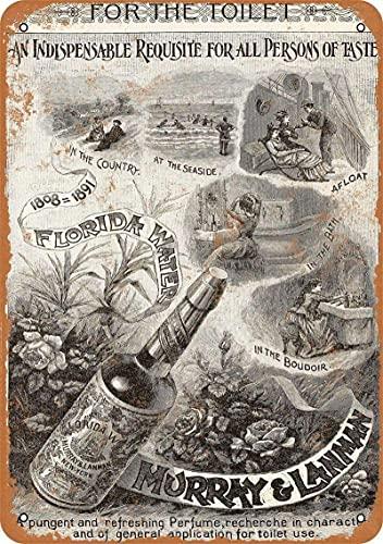 Cartel de hojalata de perfume, decoración de pared, cartel de metal, placa Retro, señal de advertencia, manualidades para oficina, cafetería, bar