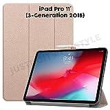 JDIWS Kompatibel mit iPad Pro 11' 2018 Hülle, Hülle, Folio, PU Leder und TPU, pancel magnetisch Laden möglich (Gold)