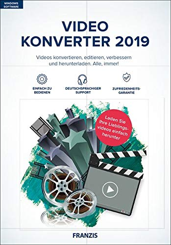 FRANZIS Video Konverter 2019|2019|4K-UHD- und HD-Videos|-|Für PC Windows 10 / 8.1 / 8 / 7|Disc|Disc