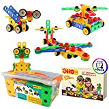 ETI Toys | STEM Learning | Original 101 Piece Educational Construction Engineering Building Blocks...
