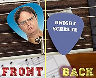 The Office Dwight Schrute Set of 3 premium Promo Guitar Pick Pic