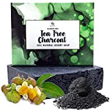 Tea Tree Oil Soap Bar - Antifungal Face & Body Wash. Antibacterial Soap With Peppermint Oil Helps Blemish Prone Acne Skin. Organic Essential Oils Aids Eczema,Toenail Fungus,Itchy Skin.Wakes Up Dull Skin!