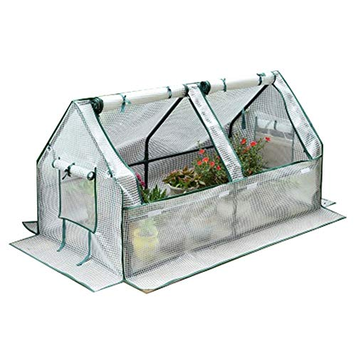 ZYF Household Outdoor Greenhouse Tent, Plant Tomato Growing Room, Rolling Door With Side Windows, White, 180×88×91cm (Size : 180×88×91cm)