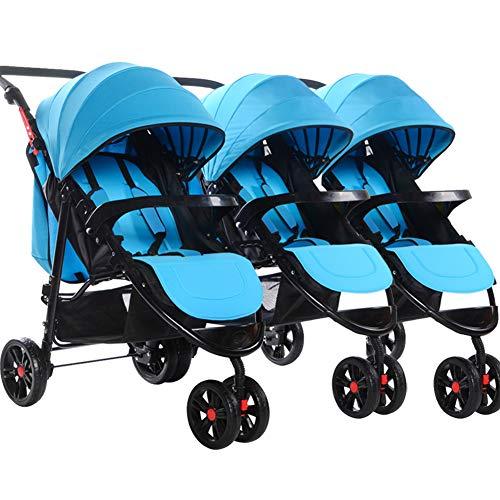 MOCOHANA Infant Baby Stroller for Newborn and Toddler - Detachable Combination of Triplets Baby Stroller Bassinet Stroller Baby Carriage Toddler Seat Stroller Luxury Pram add Stroller Tray Baby Bag