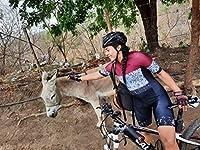 サイクリングスーツチームトライアスロンスーツレディースサイクリングスキンスーツサマー自転車セット半袖ボディスーツ (Color : 7, Size : X-large)
