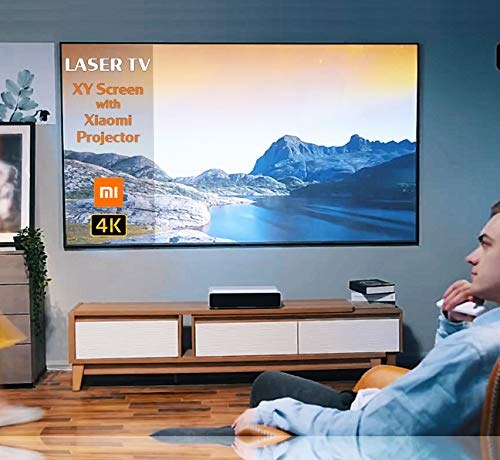 Ultra Short Throw Screen UST Projector Screen 90″ 100″ 120″ TV Home Theater (100 inch)