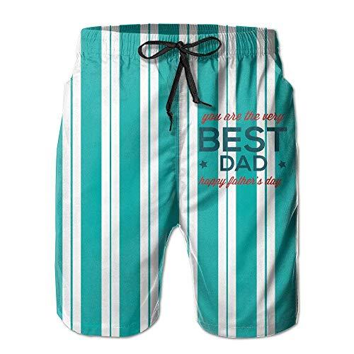 lkjhg478 Eres el Mejor papá Shorts de Playa de Agua de Secado rápido Bañador Bañador con Poket para Hombres