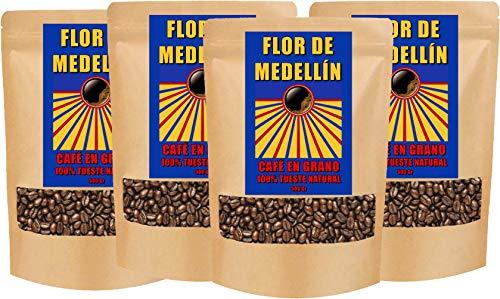 Café Flor de Medellín Especial en Grano - 4 paquetes de 500 gr