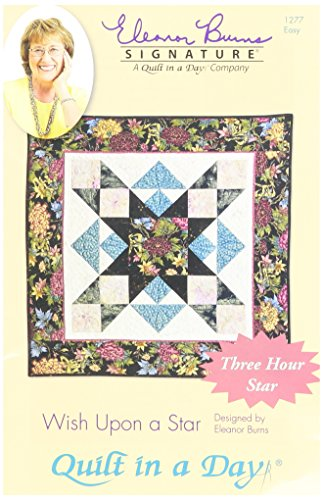 Quilt in a Day Edredón en un día Eleanor Quemaduras Firma Pattern- Wish Upon A Star Colcha patrón