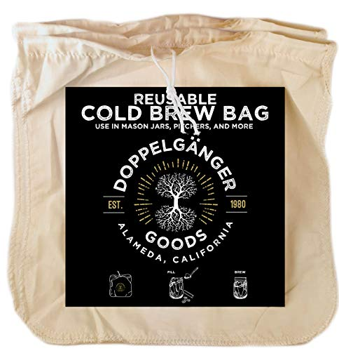 Organic Cotton Cold Brew Coffee Bag - Reusable