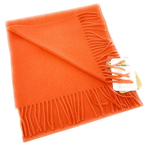Luxury 100% Pure Baby Alpaca Wool Scarf for Men & Women - A Great Gift Idea in Many Colors (Coral)