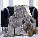 Manta de Tiro Great Blue Heron mostrando Ultra-Soft Micro Fleece Blanketow Manta de Cama súper Suave y acogedora para Cama Sofá Sofá Sala de Estar Picnic en la Playa Otoño Primavera Invierno Useow Bl