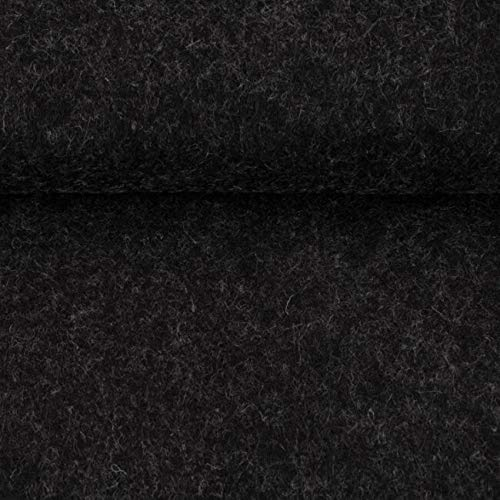 ggm® Filz Taschenfilz 4mm, einseitig beschichtet, 0,5 lfm, 102 cm breit (dunkelgrau meliert)