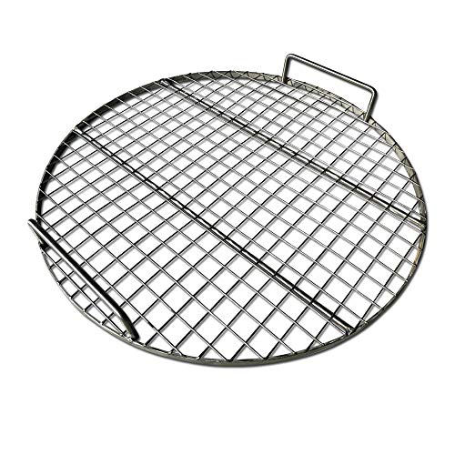 "LavaLockⓇ Stainless Steel 22"" inch Round Grill Grate - Fits Weber Kettle Performer Weber Smokey Mountain UDS Ugly Drum Smoker Barrel Fire Pit"