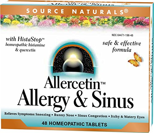 Source Naturals Allercetin Allergy & Sinus Support, Full Body Immunity, Homeopathic HistaStop - 48 Tablets (Pack of 4)