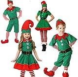 Niño Regalo Cosplay Disfraz Infantil, Disfraz de Elfo, Unisexo Adultos Niños Disfraz de Duende de Navidad Cosplay Sombreros, Ropa de paternidad