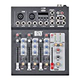 MX Professional 4 Channel Live Mixer with Bluetooth, MP3 Music Player & USB