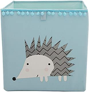 VictoryMeet Cube Storage Box with Animal Pictures Ideal for Toy Storage  Kids Storage and Organiser Container  Hedgehog