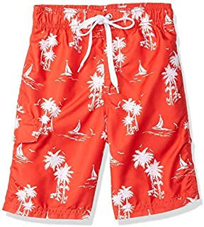 Kanu Surf Big Boys' Victor Quick Dry Beach Swim Trunk Harbor Red X-Large (18/20) [並行輸入品]