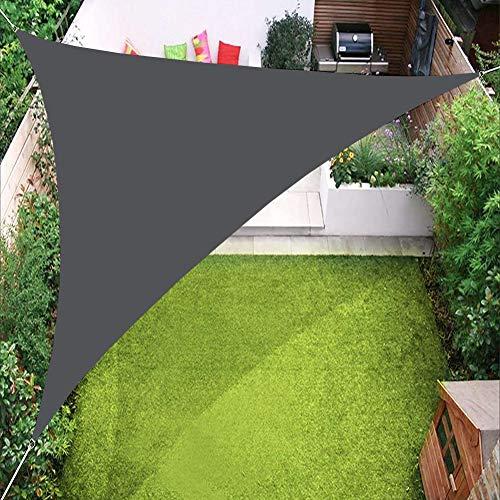 PENGMAI Auvent Triangulaire de voiles d'ombrage, Couverture d'auvent de Bloc UV de 98% pour la Cour extérieure de Jardin de pelouse de Patio