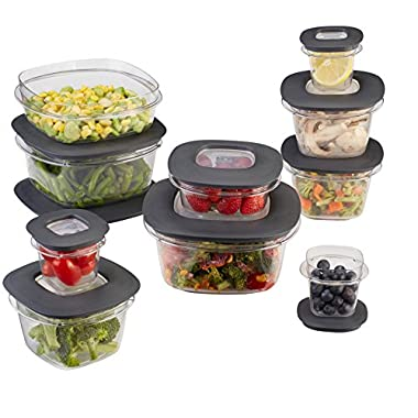 Rubbermaid Premier Easy Find Lids 20-Piece Food Storage Container Set, Grey