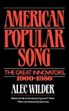 "Book cover: Alec Wilder, ""America's Popular Song"""