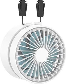 EasyAcc USB扇風機 首掛け扇風機 携帯扇風機 2600mAh 折り畳み式 角度調節可能 携帯&卓上両用 両手解放 ミニファン 超静音 超強力 手のひらサイズ mini 小型 3段階調節 暑さ対策 BBQ アウトドア 15時間連続使用 ストラップ付き 2年保証 ホワイト