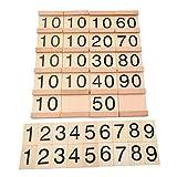 Toyvian Juegos de Mesa de Multiplicación Montessori Scrabble Tiles Matemática Matemática...