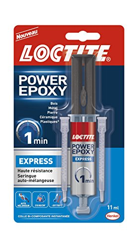 Loctite 2089593 Colle Power Epoxy Express-Seringue 11ml, Transparent