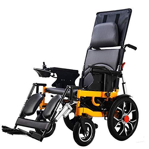 KuiGu Silla de Ruedas eléctrica, Anciano Plegable Ayuda para discapacitados Coche Anciano...