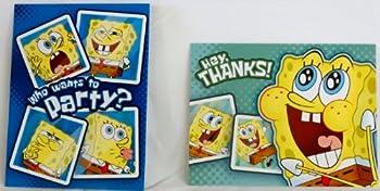 Spongebob Squarepants Birthday Invitations w/ Envelopes and Thank You Notes -  8 of Each  by DesignWare [並行輸入品]