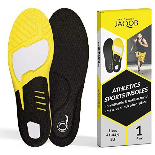 smart&gentle Plantillas gel para deporte y zapatos de trabajo - Plantillas de gel transpirables con una amortiguación excelente, recortables, talla 35-40