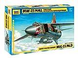 Zvezda 500787218 500787218-1:72 MIG-23 MLD Soviet Fighter - Kit di Montaggio per modellini in plastica, per Principianti, Mimetico