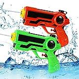 O-Kinee Wasserpistole Spielzeug, 2pcs Spritzpistole Wasser, Wasserpistole Spielzeug für Kinder, Blaster Spielzeugm, Wasserpistolen Set, für Kinder Erwachsene Pool Strandspielzeug (Orange Grün)