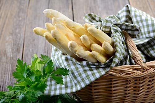 Bleichhof Bleichspargel (geschält und vakuumiert) - besonders lecker » aus eigenem Anbau « 100{413a0a464576f9d0305f46fae9e02e491dfc9e8f90e0a9b0efb249b83bbd59b8} naturbelassen - Premium-Qualität - erstklassiges gesundes Gemüse - weiß - 2 kg