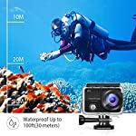 VanTop Moment 3 4K Action Camera w/Gopro Compatible Carrying Case,Remote Control,16MP Sony Sensor,30M Waterproof Camera… 16 【Stunning 4K Technique & Superb Sony Sensor】Optional 4K@30fps, 2.7K@30fps,1080P@60fps,720P@120fps resolutions, high sensitive Sony sensor with improved image focusing, processing speeds. Moment 3 action camera empowers you to capture any memorable moment without any compromise. Stunning 4K video and 16MP photos in Single, Burst and Time Lapse modes. 【Irresistible & Indispensable Accessories】Exclusively customized carrying case for the action camera and accessories: compatible with all Gopro cameras including Gopro HERO 7, Gopro HERO 6. Compact case to keep your action camera-Moment3 and accessories safe, protected and organized. Selected 21 gopro compatible accessories awaits your discovery. (SD Card excluded) 【170°Ultra-Wide Lens & Multiple Modes】Discover a big big world your eyes can reach with the intergraded 170 degrees ultra-wide lens. Burst Shooting, loop recording makes it possible to find the perfect moment afterwards. Time-lapse and slow motion exceed human vision with surprising fun.