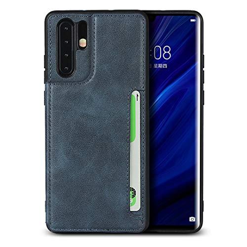 Portemonnee telefoonhoesje voor Huawei P30 Pro (blauw)