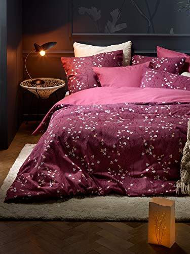 De Witte Lietaer Violetta - Juego de Funda nórdica y Funda de Almohada, algodón, 140 x 220 cm, Color Rosa Oscuro