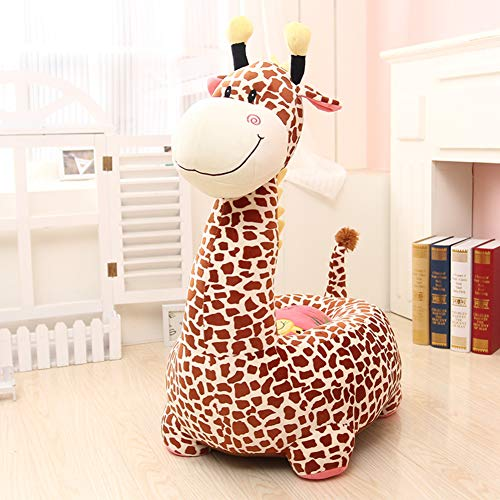 Y&Y Fauteuil en Peluche pour Enfants,Girafe Animaux Girafe Chaise de Sac d'Haricot Rembourré Doux Chaise de Sofa Kid pour Fille garçon âgés de 2 et jusqu'à-Jaune 19in