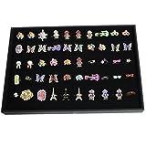 Nalmatoionme 100 ranuras para anillos, pendientes, broches, caja de almacenamiento, organizador de joyas