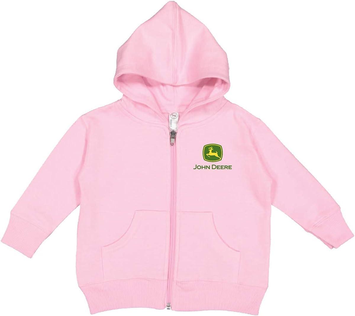 John Deere Logo Baby Girl Pink Gorgeous Hooded Purchase Full Zip Sweatshirtight