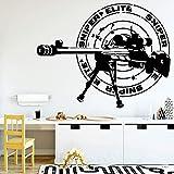 yaonuli Pegatina de Pared de Rifle de Francotirador de Dibujos Animados decoración de Sala de Estar Etiqueta de Pared Impermeable 57X35 cm