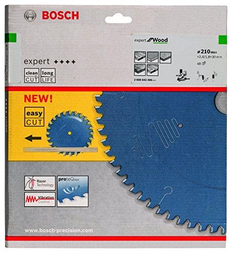 Bosch Professional 2608642496 Kreissägeblatt Expert for Wood 210 x 30 x 2.4/1.8 mm Z48T